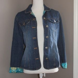 Chico's Denim Jacket with cute lining!